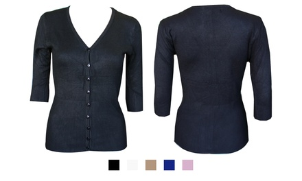 Ladies Three-Quarter Sleeve Cardigan for R259 Including Delivery (38% Off)