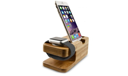Tek88 Apple Watch and iPhone Bamboo Charge Dock for R229 Including Delivery (23% Off)