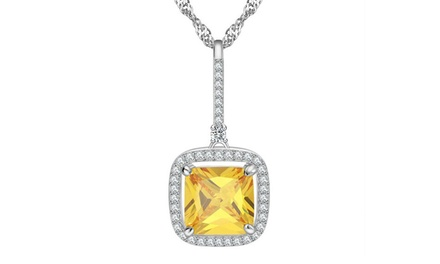 Square Cubic and Yellow Stone Pendant for R319 Including Delivery (36% Off)