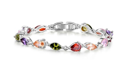 Multi-Coloured Cubic Zirconia Bracelet for R299 Including Delivery (40% Off)