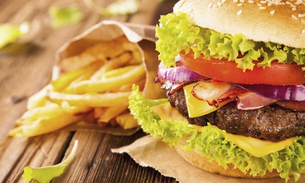 Choice of Burger from R86 for Two at Square Time Café (Up to 50% Off)