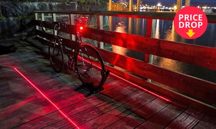 LED Bike Tail Light with Laser Safety Lane from R169 Including Delivery (Up to 73% Off)