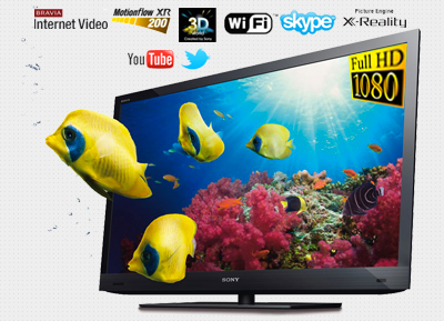 "SONY - 40"" 3D Bravia Internet Full HD LED TV"