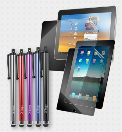 iFROGZ & ZAGG - Stylus & Screen Protector for iPad or Galaxy Tab