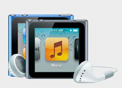 APPLE - iPod Nano 8GB Blue,Graphite, Silver Or Pink