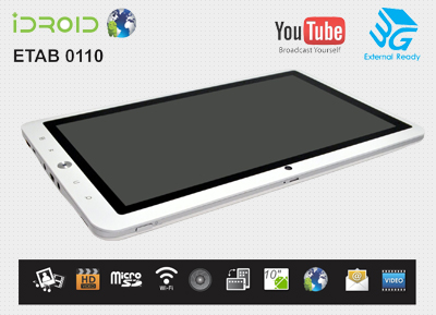 iDROID - ETAB 10 Inch Android Tablet