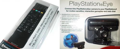 PS3 Blu-Ray Remote + PS Eye