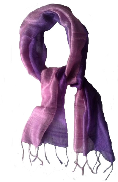 100% Pure Raw Silk Spring Scarf - Free Shipping