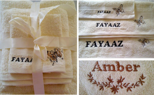 Personalised Embroidered Glodina Towel Gift Sets