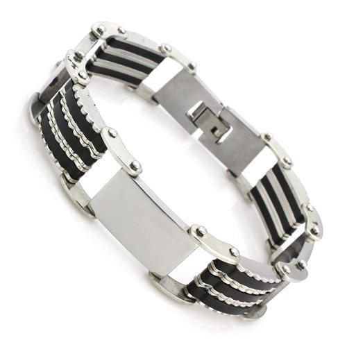 Men's Genuine Stainless Steel & Silicon Bracelets | 9 Styles