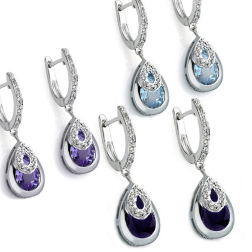 Elegant Diamond Earrings | 3 Colours