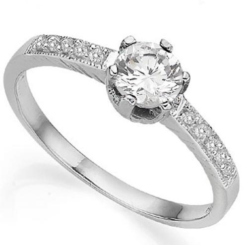 Exquisite 0.61cts Genuine Topaz & Diamond Ring