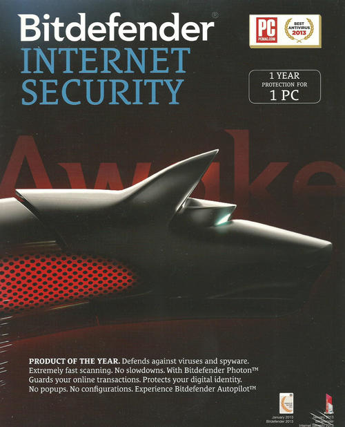 Bitdefender Internet Security - 1 Year Protection for 1 PC | Free Shipping