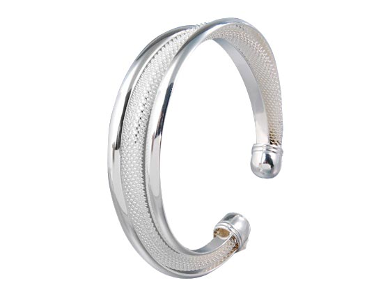 Silver filled Hypotenuse Bangle   Free Shipping