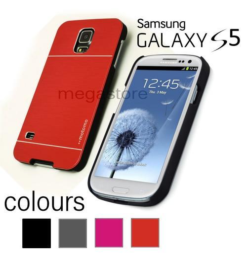 Samsung Galaxy S5 i9600 Steel Brushed Metal Hard Case