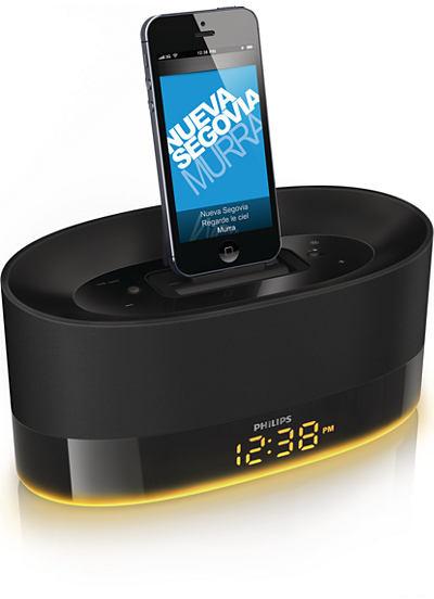 Philips docking speaker with DualDock for iPod/iPhone/iPad USB port