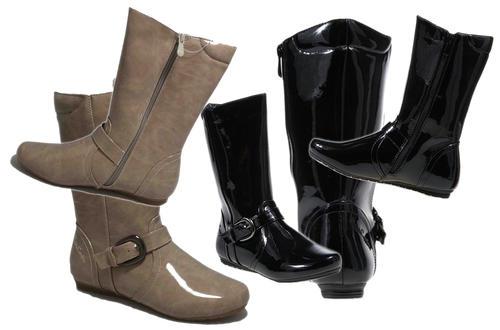 Pierre Cardin Patent Boots   2 Colour Choices
