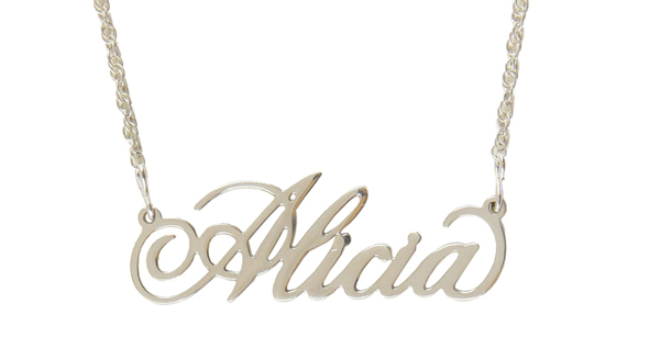 Sterling Silver Nameplate Necklace | 4 to choose from