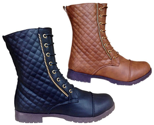 Ladies Quilted & Buckle Boots | 3 Styles