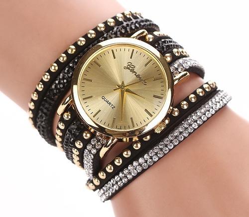 Weave wrap chain Rivet Bracelet Watch | 12 colours available