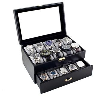 Luxury 2 Tier 20 Slot Watch Display Storage Case