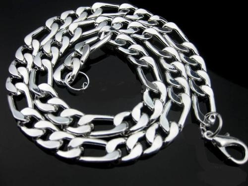 Men's Stainless Steel Figaro Necklace