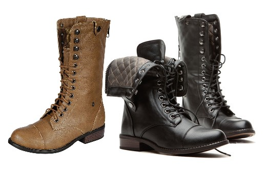 Dollhouse Combat Boots | Available in Black & Tan