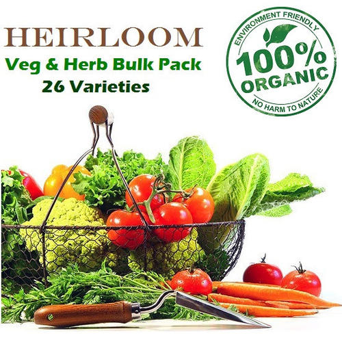 Organic Heirloom Vegetable & Herb Bulk Pack