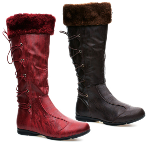 Ladies In House PU Upper Fur Trimmed Boots (FC537)