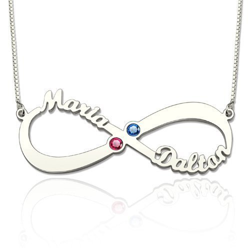Personalized Infinity Necklace  3 Designs and Colour