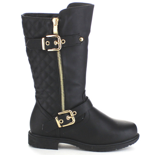 Girl's High Quilted Boots Children's sizes 8-3