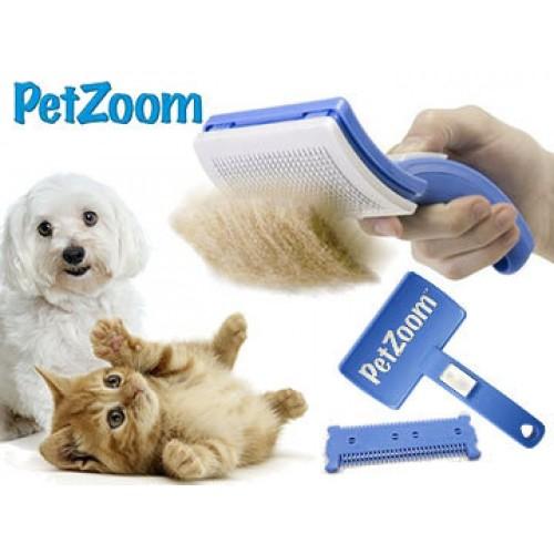 Petzoom Self Cleaning Grooming Brush
