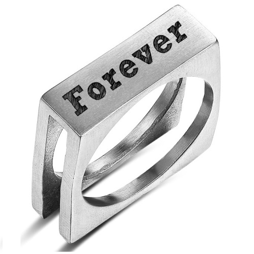Men's Personalized Rings for Dad Free Engraving 3 designs to choose