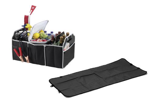 Car Organizer & Cooler + Pet Car Seat Cover Combo