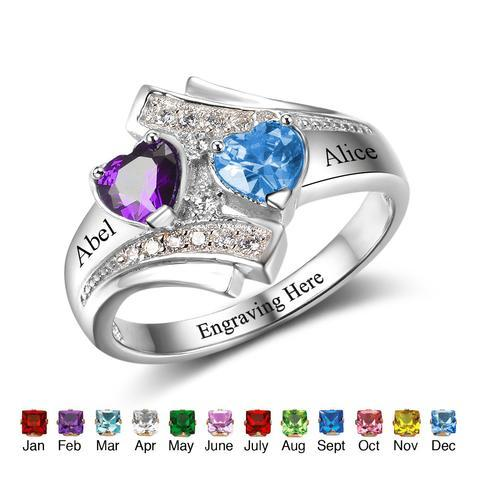 Personalized Sterling Rings