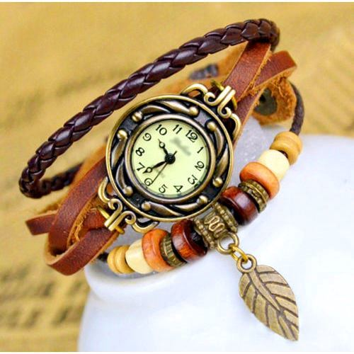 Genuine Leather Charm Watch