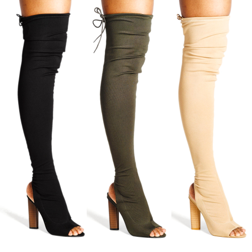 Ladies Dolce Vita Thigh Length Heel Boots (DV210)
