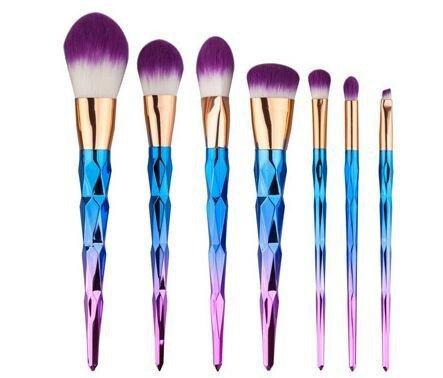 7 Piece Rainbow Unicorn Brush Set