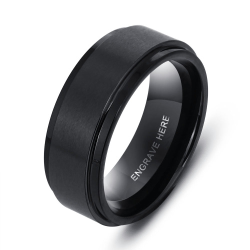 Personalized Tungsten Carbide Rings l 2 designs to choose from