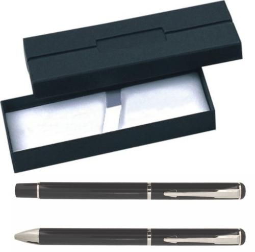 Stainless Steel Ballpoint Pen & Roller Ball Set