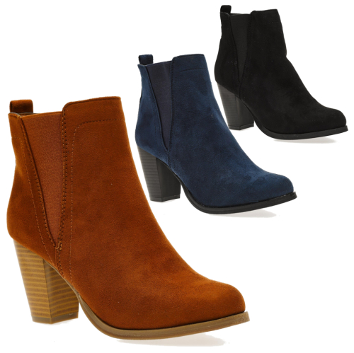 Ladies' Inhouse Double Gusset Ankle Boots (RZ236)
