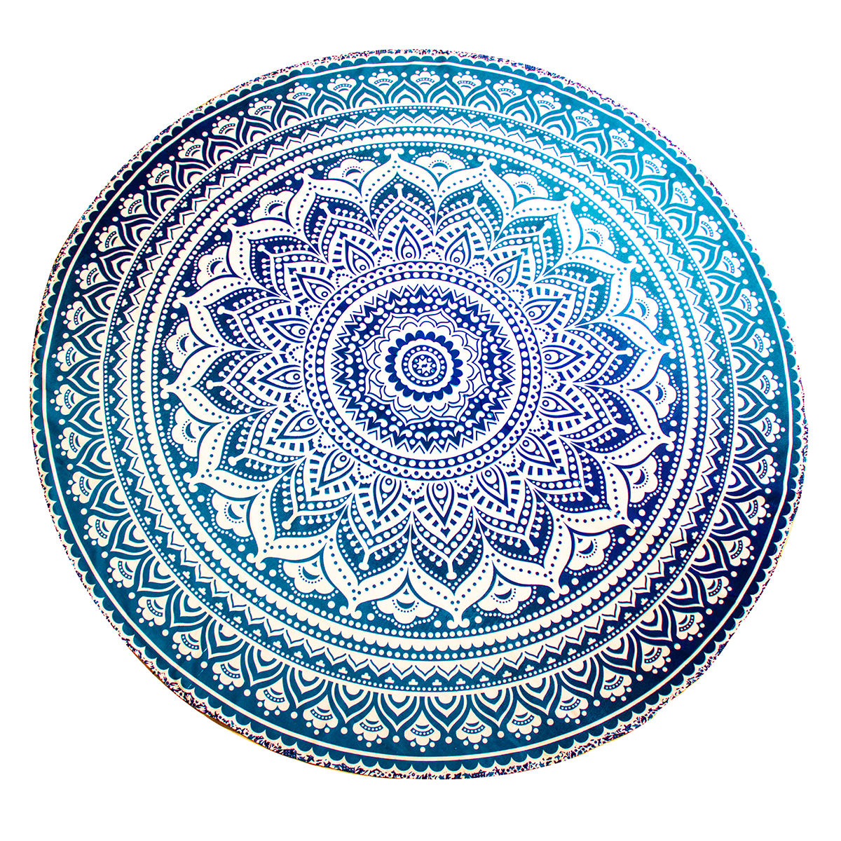 Blue Ombre Mandala Throw