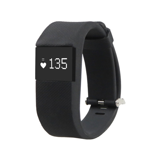 TW64S Fitness Tracker with Heartrate Monitor Black