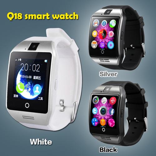 Q18 Smart Watch Black,Silver,White & Bronze