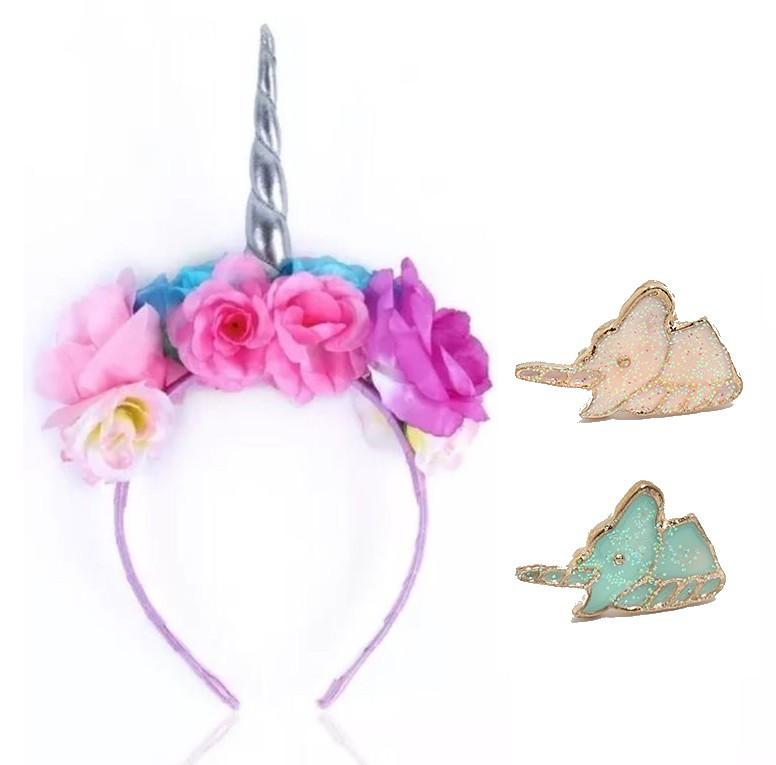 Unicorn Gift Set Accessories: Headband & 2 Pairs of Stud Earrings