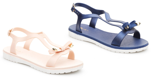 Ladies' Bow Jelly Sandals 2 Colours (LCB416)