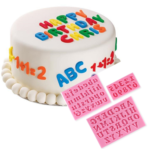 Cake Mould Letters and Numbers