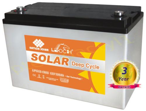 12V 100A/h LECOH Solar Deep Cycle Battery