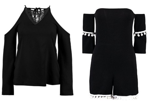 Ladies' Open Shoulder Tops & Playsuits
