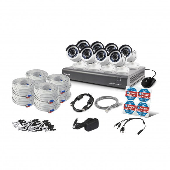 Swann DVR16-4550 16 Channel 1080p Digital Video Recorder with 8 x PRO-A855 Cameras